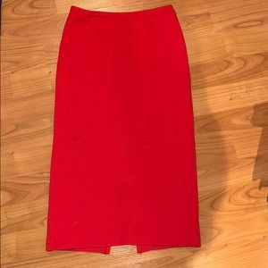 Red right pencil skirt